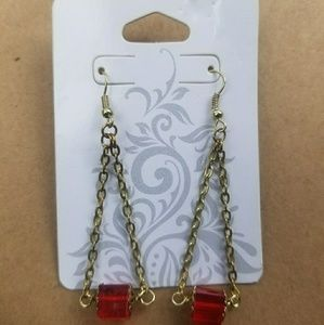 £ovely red and gold earrings